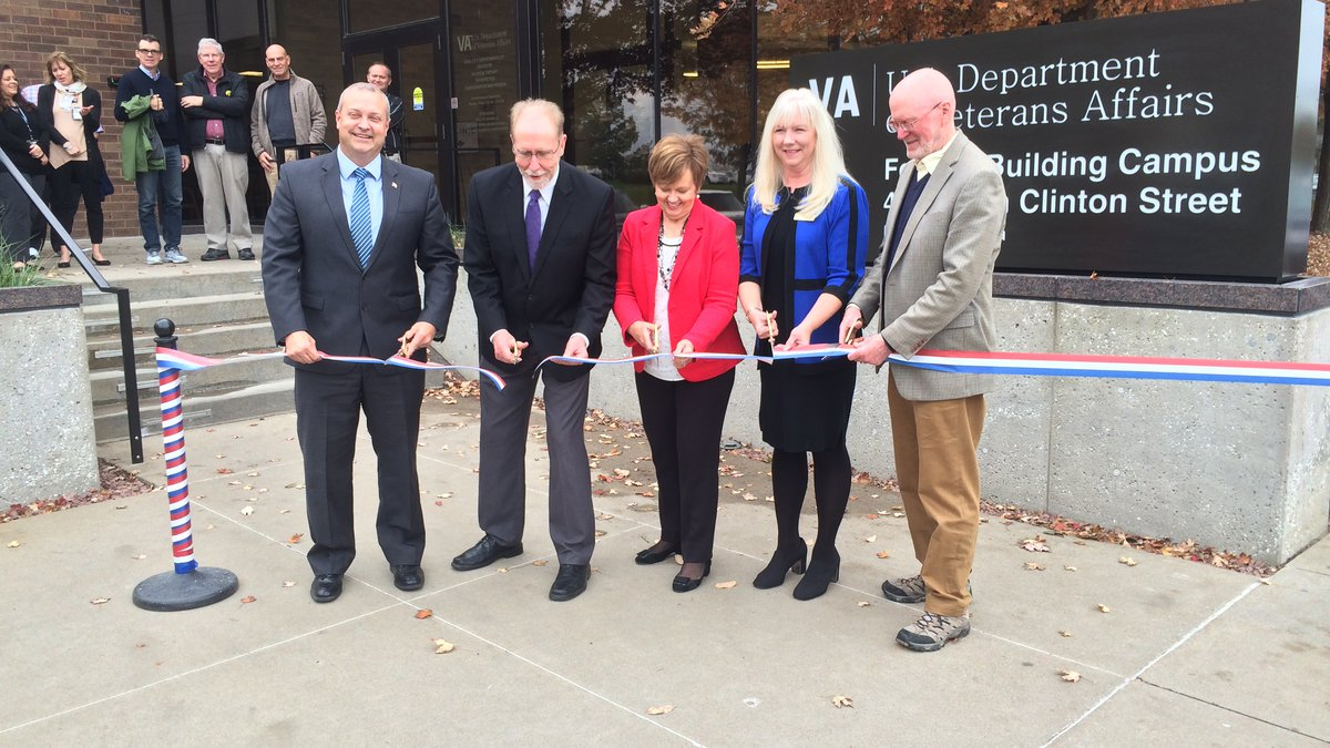 A ribbon cutting marked a celebration Friday at the opening of the new VA Community Clinic in...