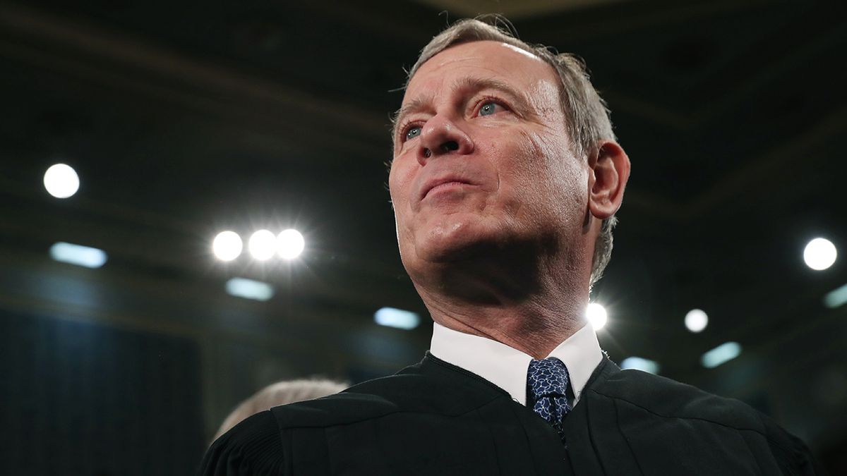 FILE - In this Tuesday, Feb. 4, 2020, file photo, Supreme Court Chief Justice John Roberts arrives before President Donald Trump delivers his State of the Union address to a joint session of Congress on Capitol Hill in Washington. A divided Supreme Court on Friday, May 29, 2020, rejected an emergency appeal by a California church that challenged state limits on attendance at worship services that have been imposed to contain the spread of the coronavirus. Over the dissent of the four more conservative justices, Roberts joined the court's four liberals in turning away a request from the South Bay United Pentecostal Church in Chula Vista, California, in the San Diego area. (Leah Millis/Pool via AP, File)