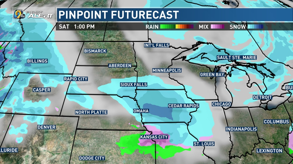 Another potential for snow comes Saturday and Sunday.