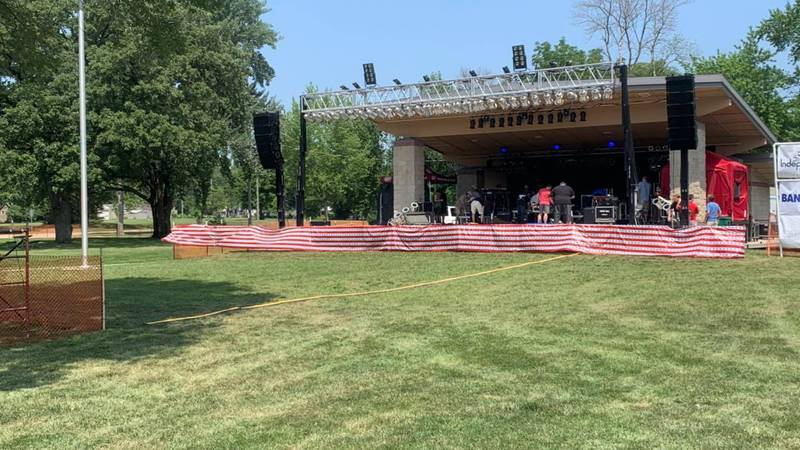 The stage at the Celebrate Indee Festival in Independence, Iowa