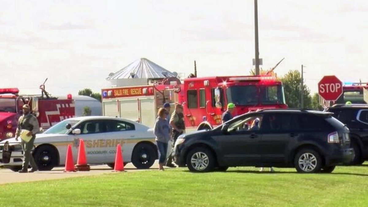 Emergency crews work the scene of a fatal accident in Sloan on Friday, Sept. 24, 2021.