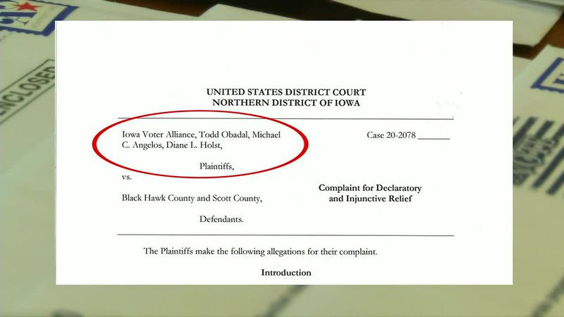 Black Hawk and Scott County Auditors face sued from a group with connections to a conservative...