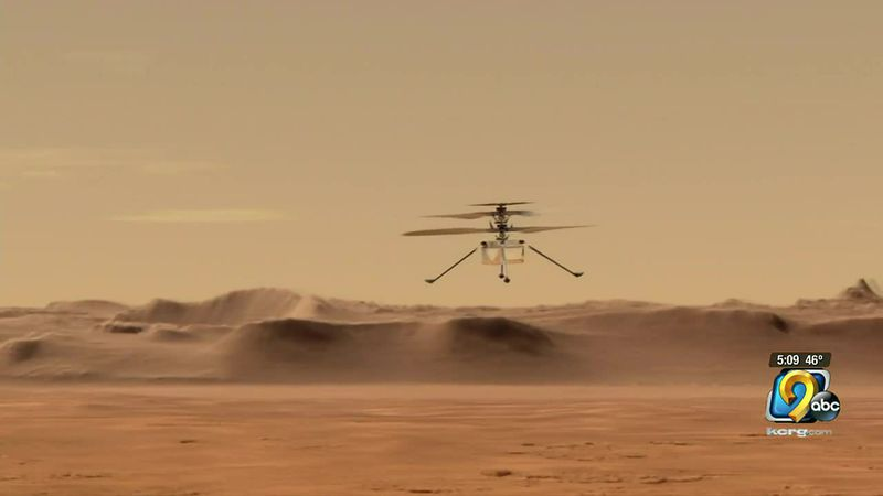 NASA's helicopter, Ingenuity, could take its first flight on Mars as early as Monday.