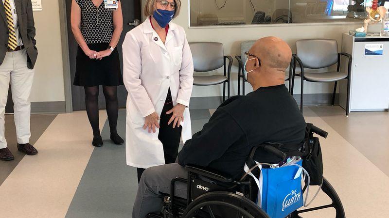 Iowa's 2nd District Congresswoman Mariannette Miller-Meeks is touring vaccine facilities in...