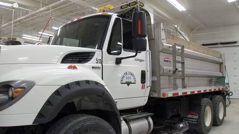 Crews get snow plows ready in North Liberty on Wednesday, Oct. 30, 2019 (Jackie...