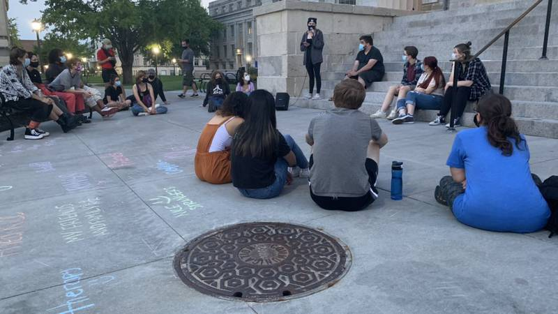 Around 30 people protest in Iowa City regarding sexual assault policy