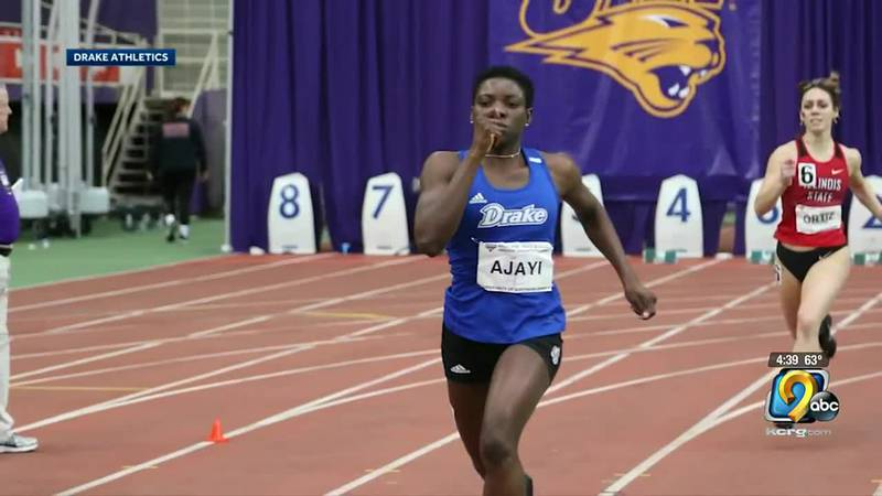 For the first time ever, a current female student athlete from Drake University is running in...