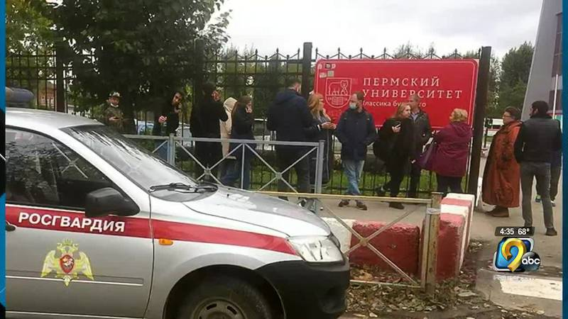 Russian authorities say 8-people are dead and 2-dozen are hurt after a gunman opened fire at a...