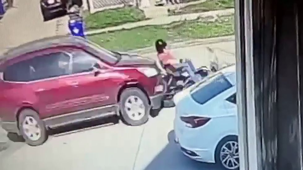 A still image from surveillance video, released by the Cedar Rapids Police Department, showing...