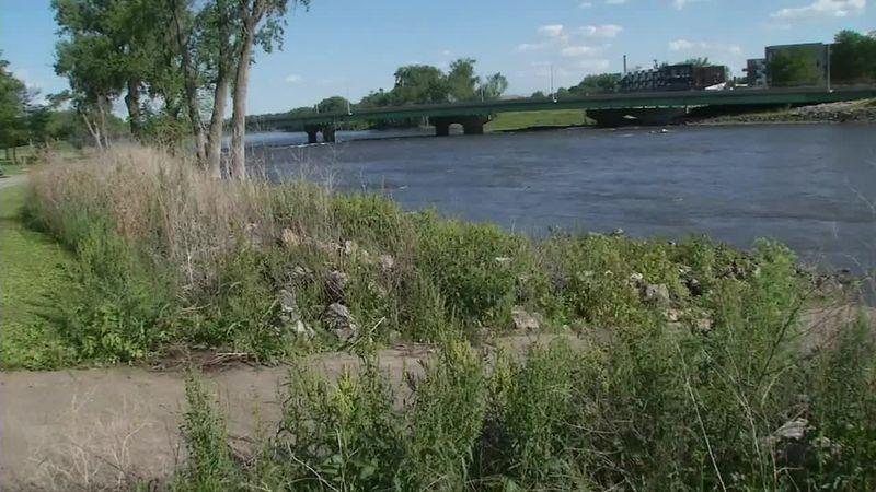 Cedar River in Cedar Falls.