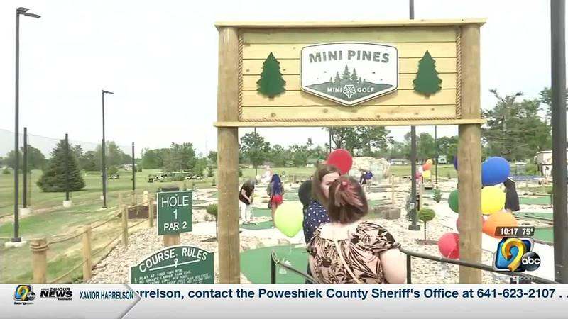 New mini golf course open for play in Cedar Rapids