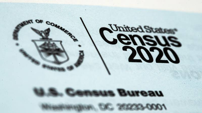FILE - This March 19, 2020, file photo, shows a 2020 census letter mailed to a U.S. resident. ...