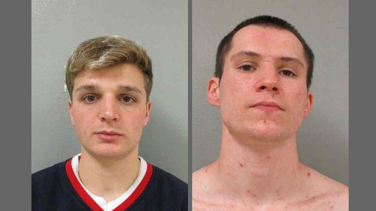 Anthony C. Nelson III, left, 21, of Oelwein, and Gary J. McNamara, right, 22, of Oelwein...