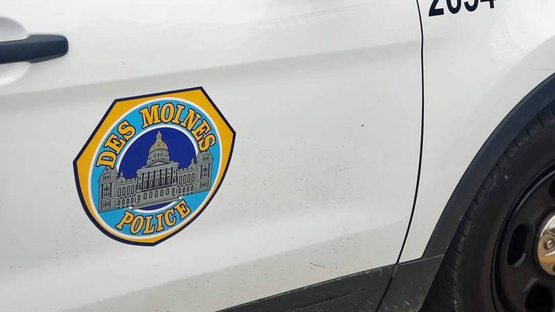 The side of a Des Moines Police Department vehicle.