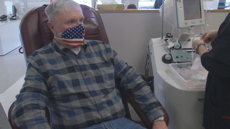 Wayne Brown has donated at least 35 gallons of blood to the Mississippi Regional Blood Center...