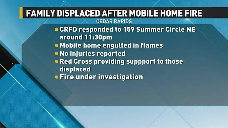 Fire in Cedar Rapids.