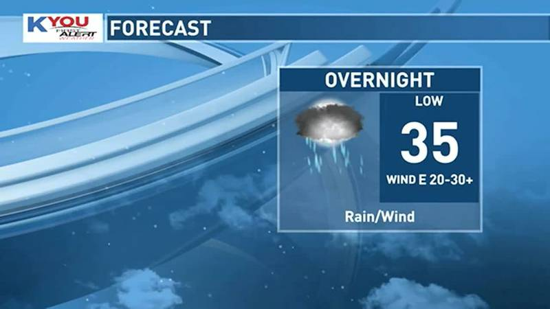 Overnight, rain will change to snow as temperatures cool into the low 30s across eastern Iowa.
