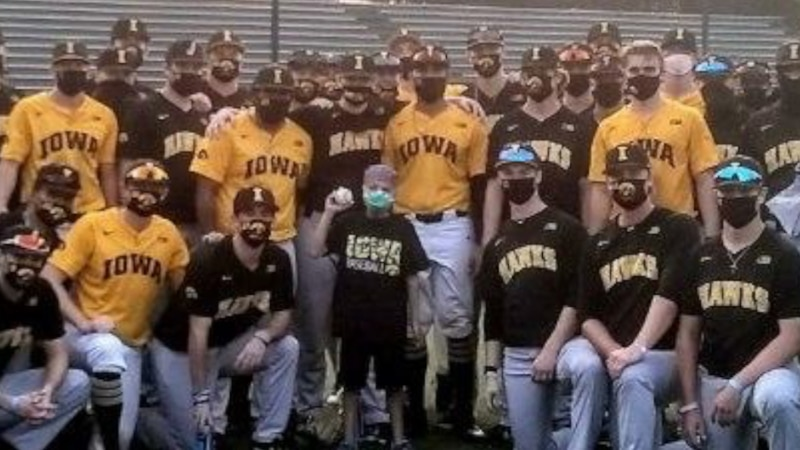 Andrew Jenkins forms life long friendship with Iowa baseball team