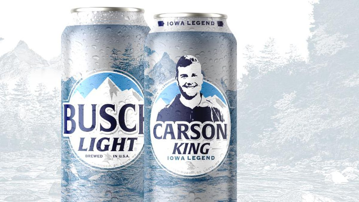Carson King will now get his face on a Busch Light Can. (Courtesy: Busch Light)