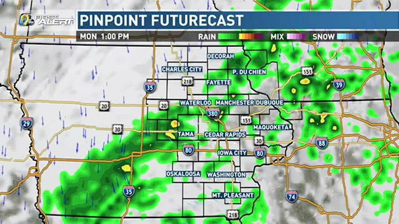 After a long, dry stretch and a rather toasty weekend, much needed rain is finally on the way.
