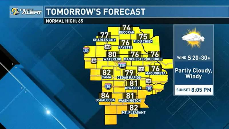 We'll start the work week off with a little taste of summer as temperatures both Monday and...