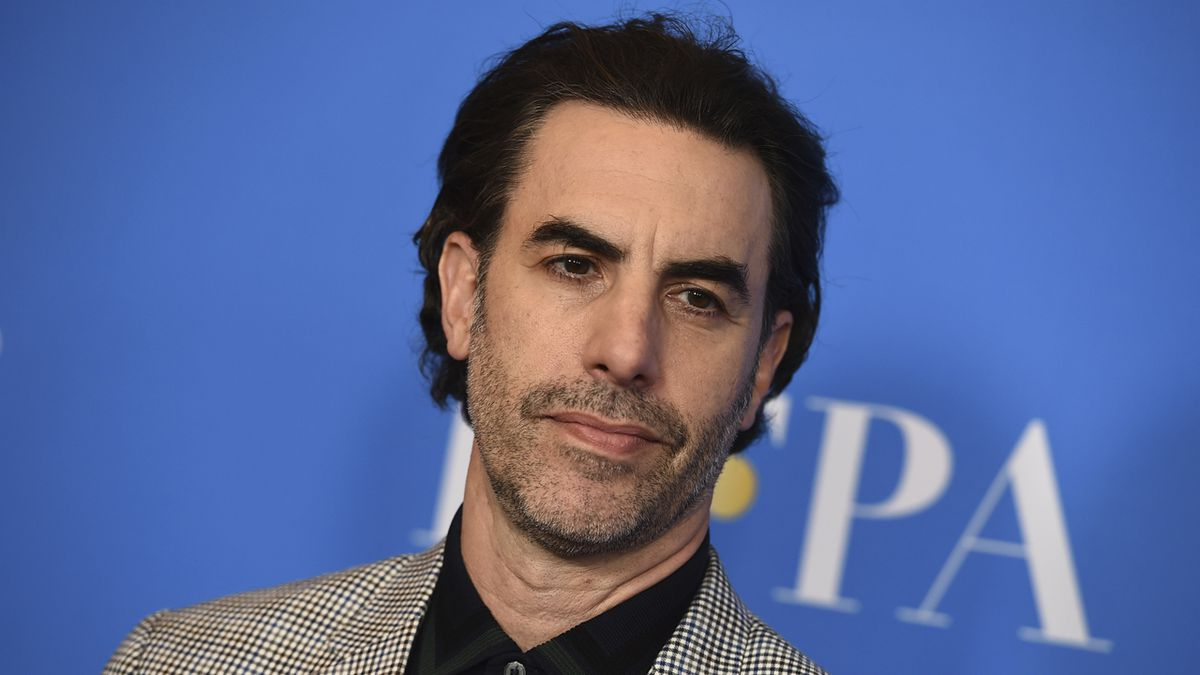 FILE - In this Wednesday, July 31, 2019 file photo, Sacha Baron Cohen arrives at the 2019...