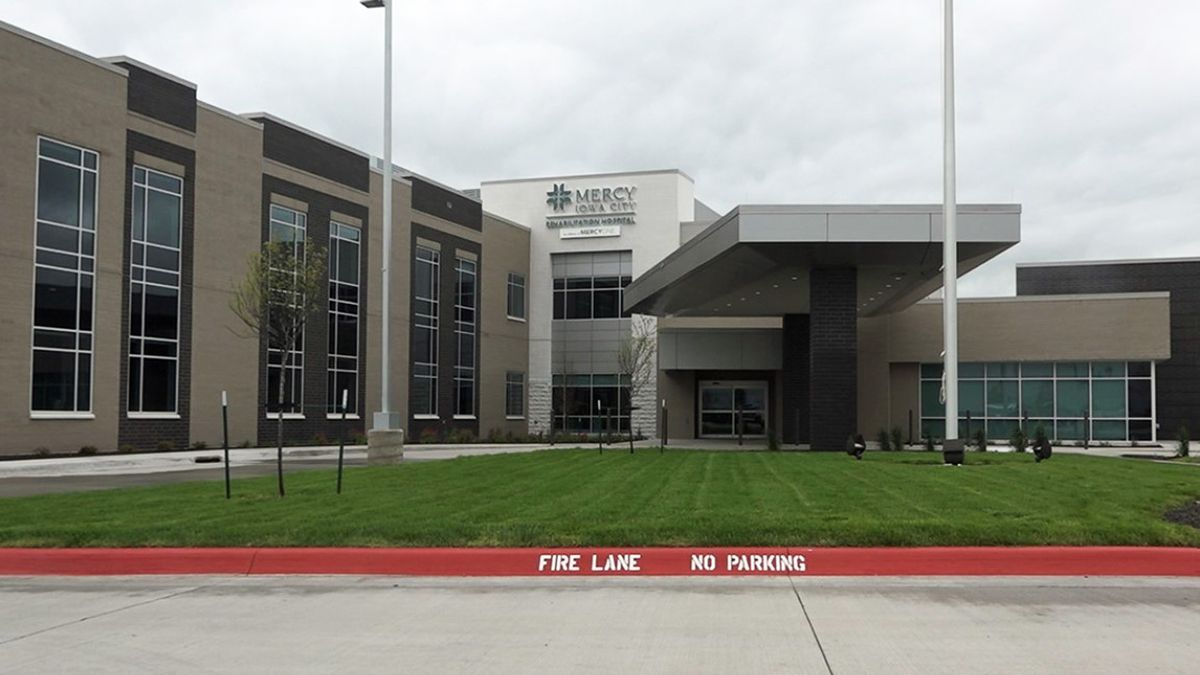 The Mercy Iowa CIty Rehabilitation Hospital in Coralville on Wednesday, May 20, 2020. The new facility is set to open to its first patients on May 28. (Aaron Scheinblum/KCRG)