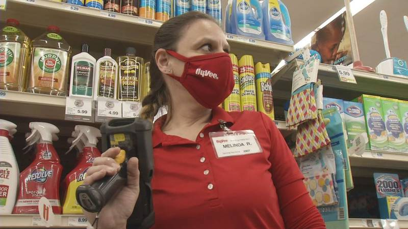 Melinda Rouw, an Aisles Online employee at the Johnson Avenue location in Cedar Rapids,...