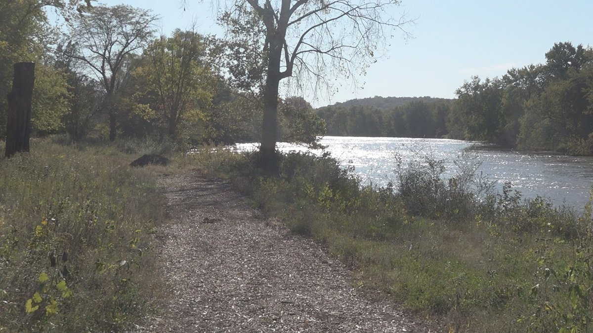 A path at Terry Trueblood Recreation Area in Iowa City on October 18, 2019. The city received a...