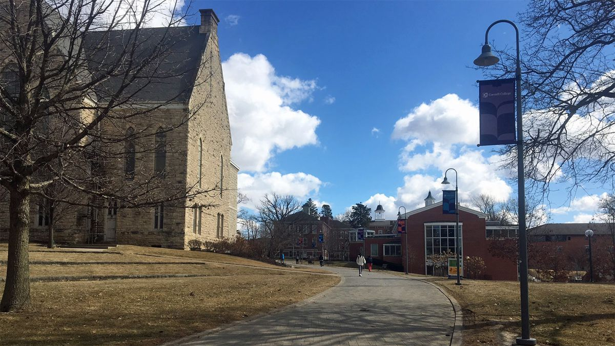 Part of Cornell College's campus on Tuesday, March 3, 2020. (Josh Scheinblum/KCRG)