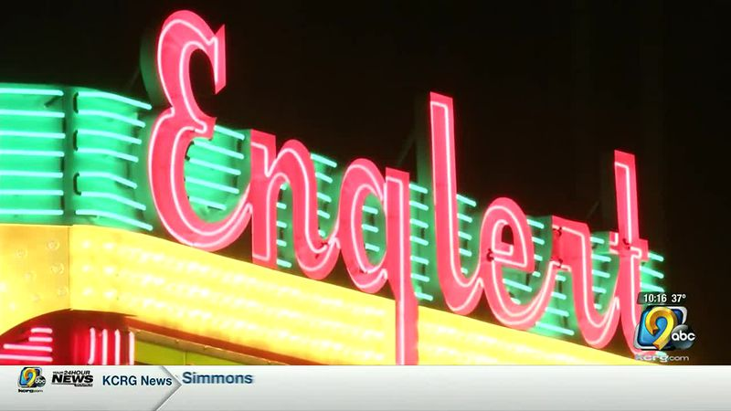Englert Theatre marquee lights up downtown Iowa City again