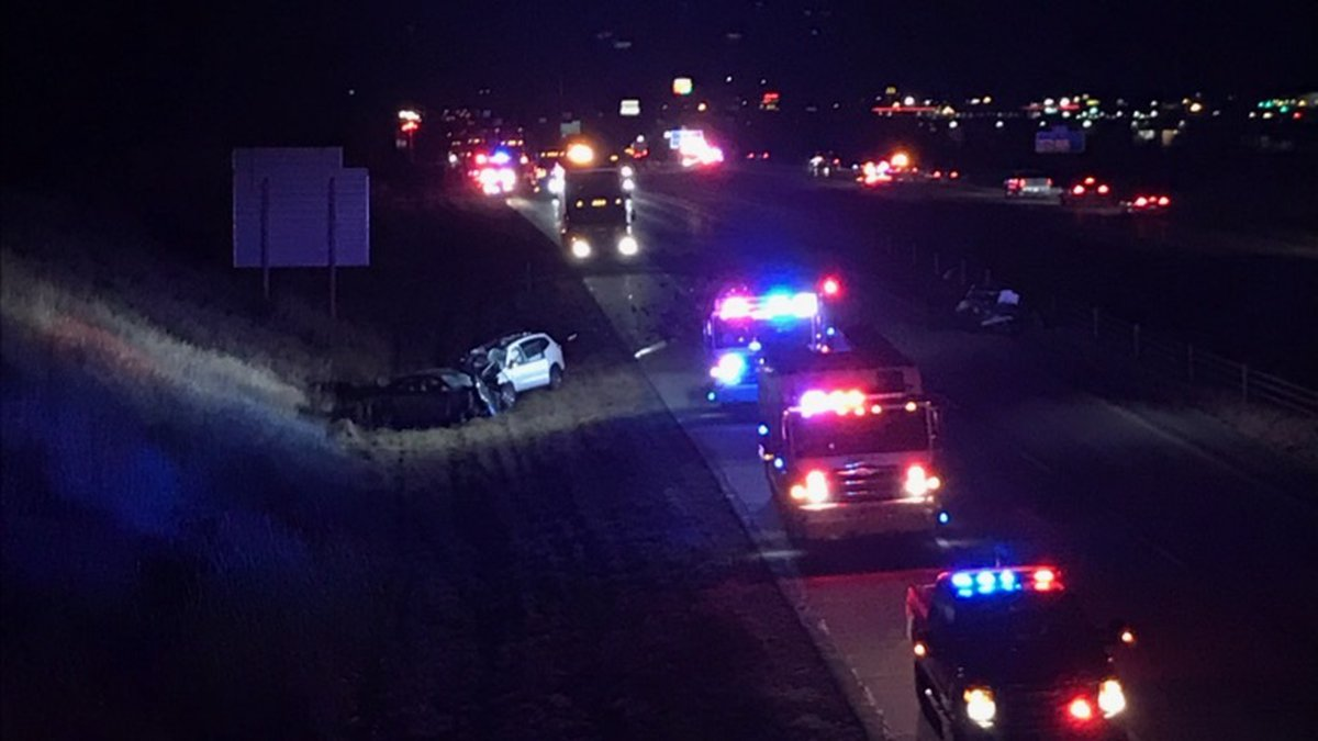 Police say a car driving south in the northbound lanes of Interstate 380 led to a multi-vehicle...