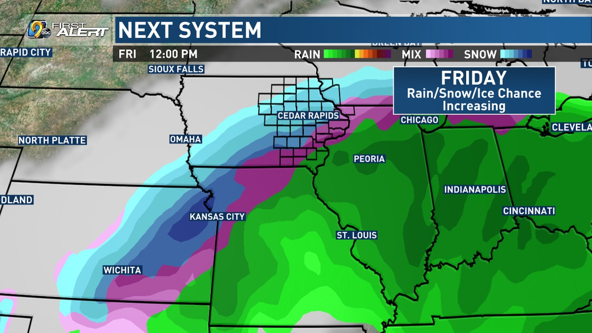 Another winter storm will bring the chance for snow as well as sleet, freezing rain, and rain...
