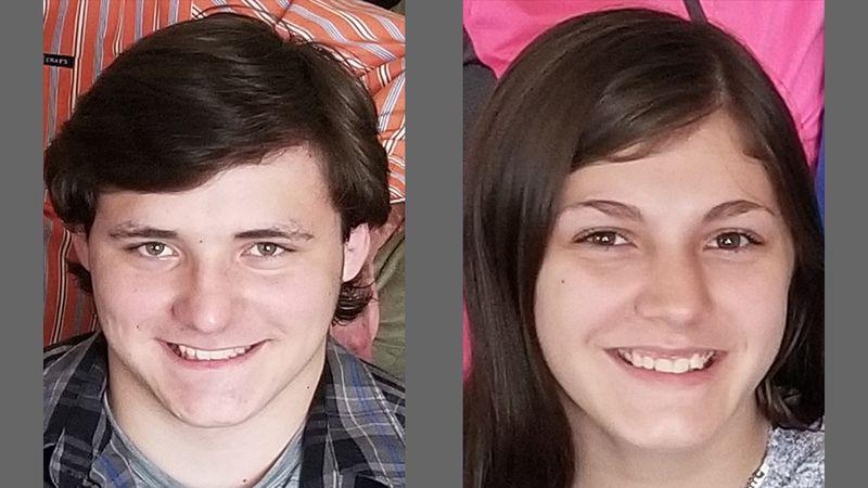 Xander Zack, left, 15, and Jazmine Zack, right, 14.