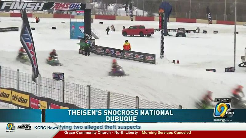 National snowmobile competition happening in Dubuque