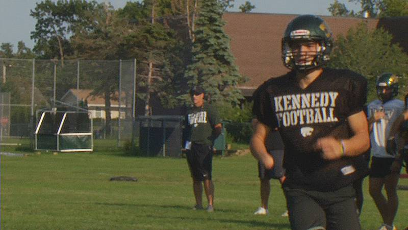 Kennedy's Dominic Mann made an impressive pick six in week one of the high school football...