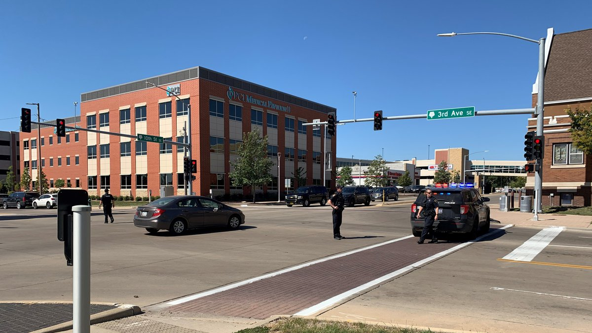 A pedestrian has been taken to the hospital after being hit by a car in Cedar Rapids on Tuesday.