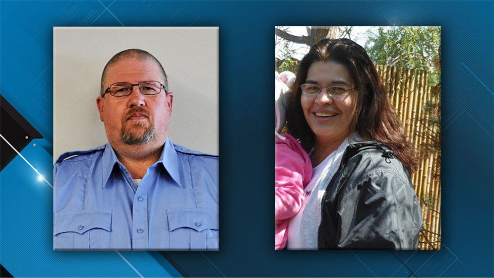 Robert McFarland, 46, left, and Lorena Schulte, 50, right, two employees killed at the Anamosa...