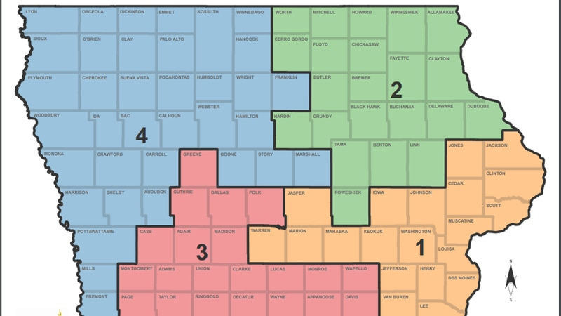 Iowa agency releases second set of proposed redistricting maps