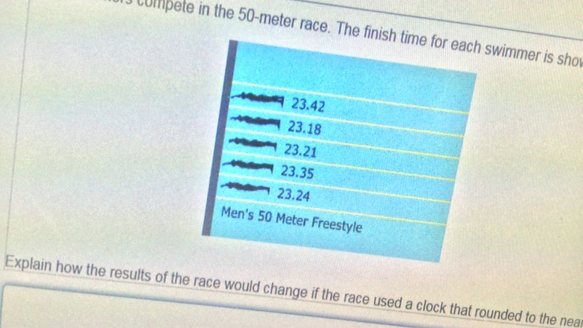 A sample question on the new computer-based Smarter Balance assessment testing on Thursday,...