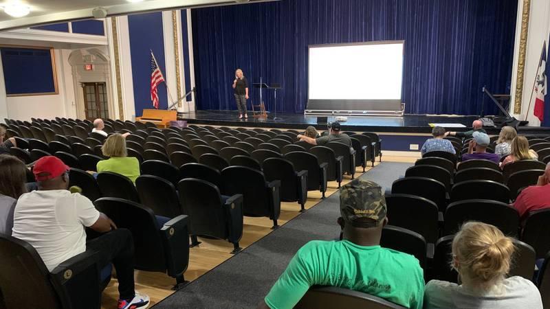 CRCSD Deputy Superintendent Nicole Kooiker speaks at a meeting on June 21, 2021.