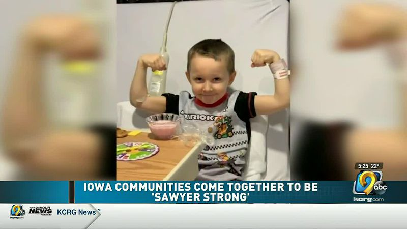 a 5-year-old Iowa boy and his family are receiving love and support from people they don't even...