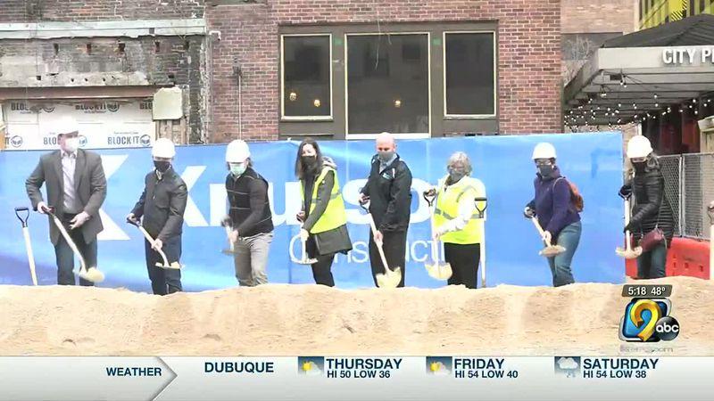 Groundbreaking held for new development in Iowa City pedestrian mall