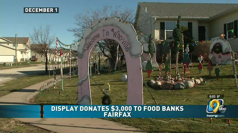 Fairfax Christmas light display raises $3000 for food bank
