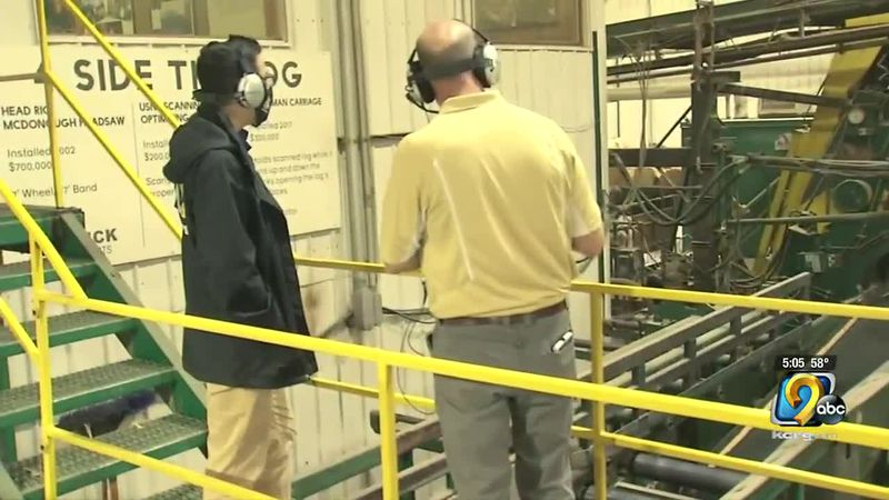 The full tour of the Kendrick Forest Products facilities takes about an hour and a half.