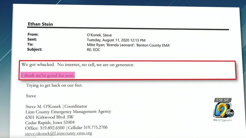 Linn County Emergency Management denied and ignored possible help after the derecho