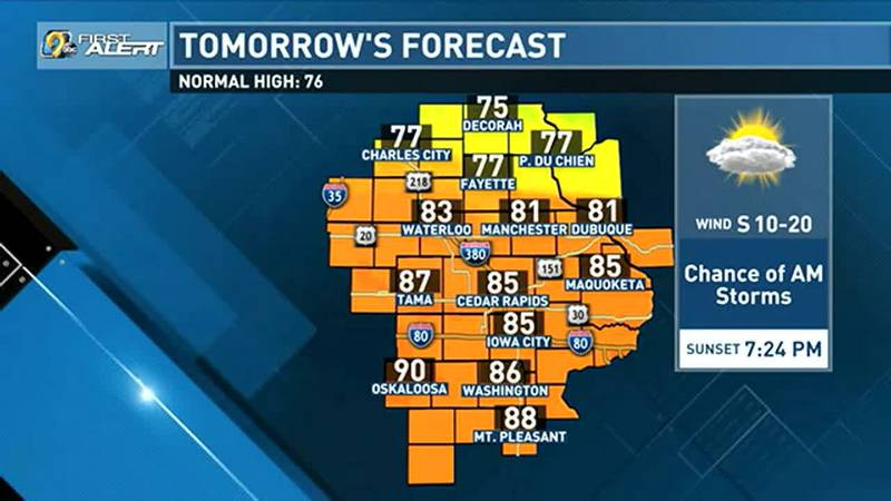 After a brief return to summer-like heat this weekend, rain chances along with cooler...