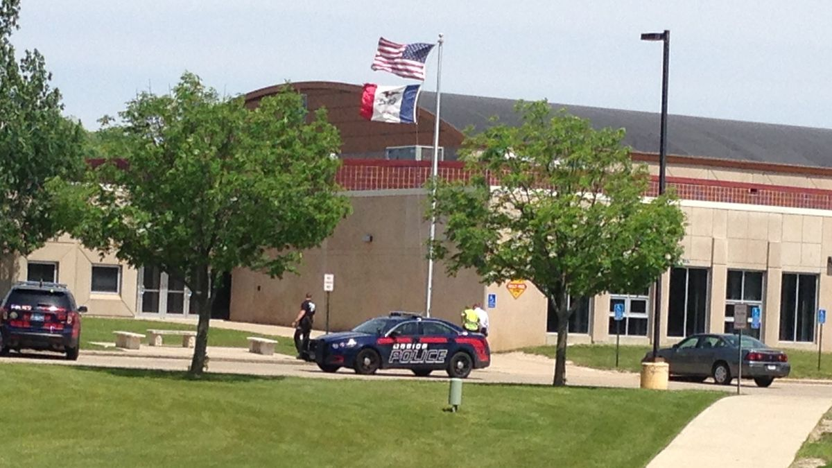 Marion police search Excelsior Middle School after someone called in a bomb threat Monday, May...