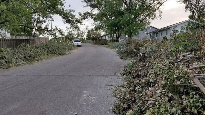 Crews in Marion will be collecting curbside debris Wednesday.