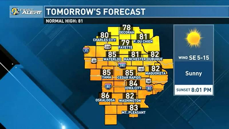 As we wrap up the last weekend before school starts for many across the area, the weather will...